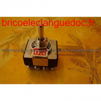 Code 102 Iinterrupteur tripolaire 15 A on/of/on